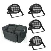LED Tri-12 Par 4 Pack