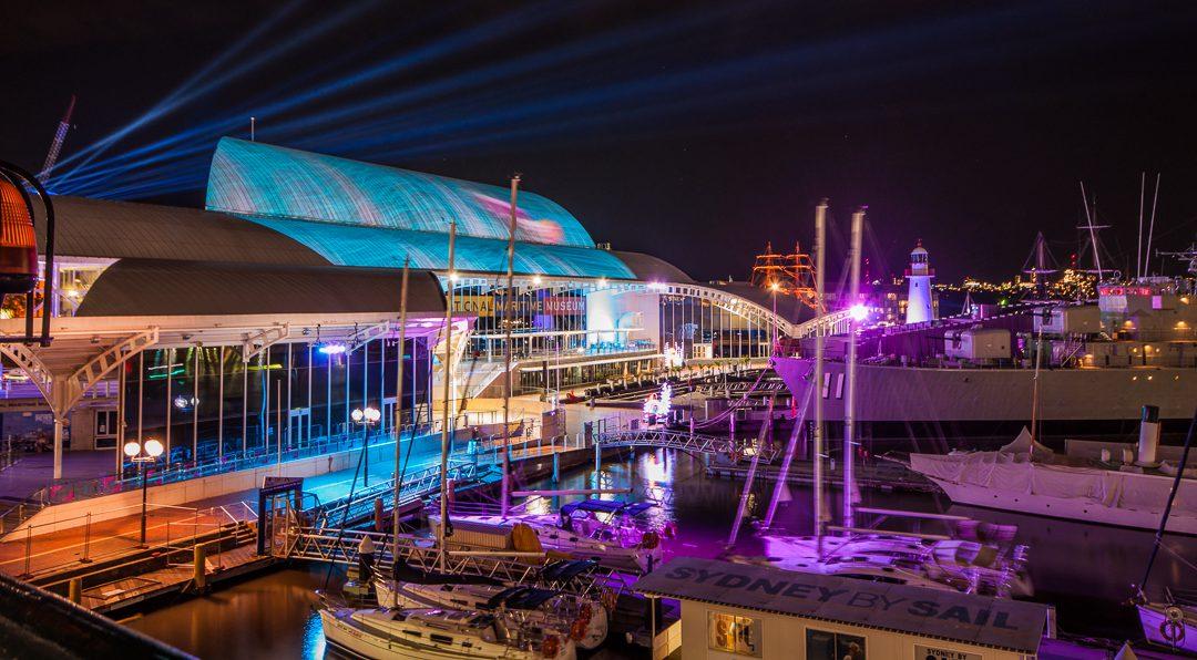 Fusion transform Australian Maritime Museum for Vivid.