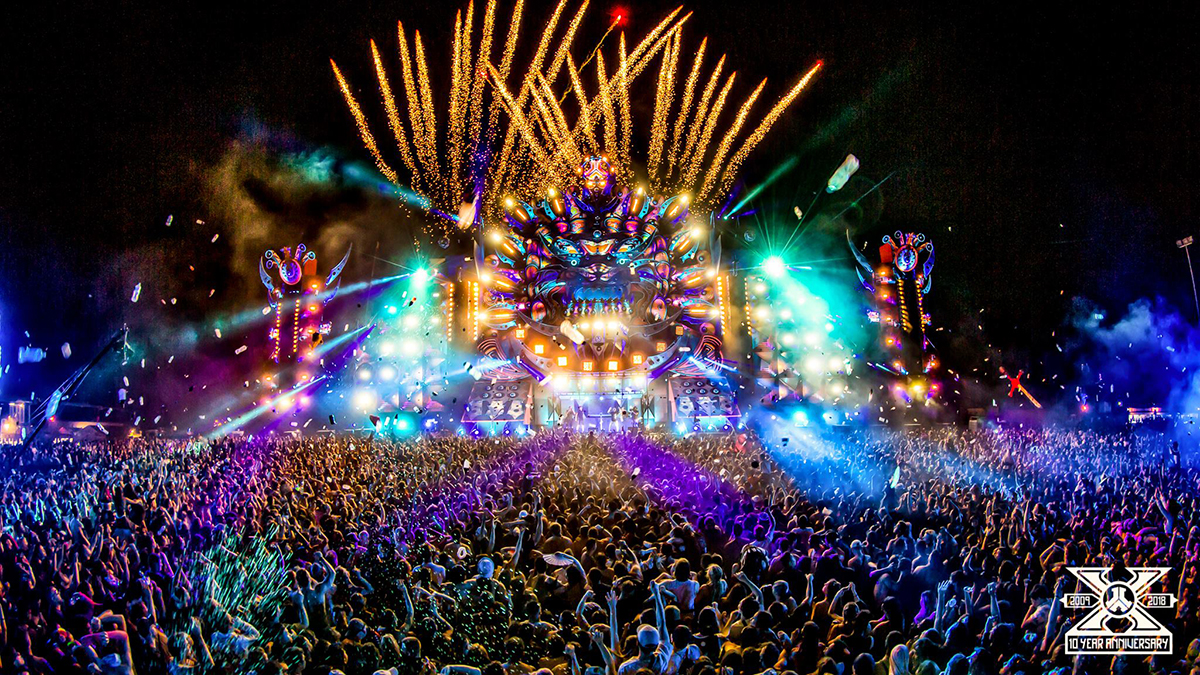 10 Year Anniversary Edition Of Defqon1 In Australia Show Dancing Leds Technology