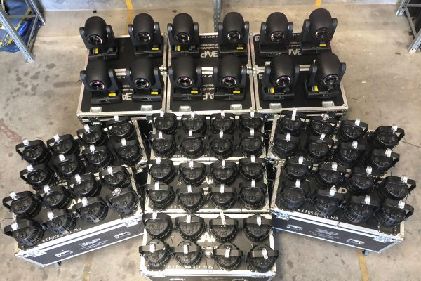 EAVP expands with Claypaky Axcors and an army of FusionPARs