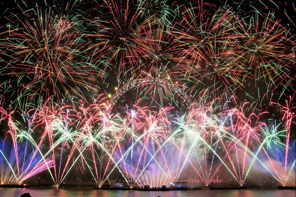 Claypaky Mythos 2 Light Up London's Official New Year Fireworks
