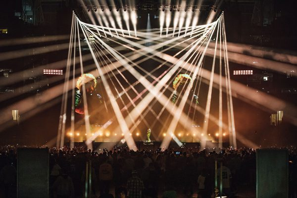Claypaky Xtylos Fixtures Make US Debut at Post Malone's Posty Fest Stadium Show in Dallas