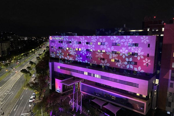 Claypaky Scenius Unicos Light Up Royal Women's Hospital in Melbourne Australia