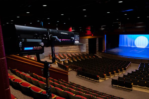 Robert Juliat Roxie2 followspots installed by Clearwing Systems Integration in Wisconsin's Waterford Union High School