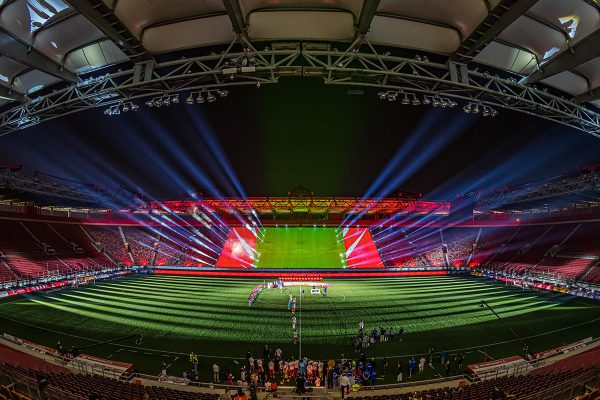 "Olympiacos Football Club Stages ""Lights of Hope"" Championship with Support from Claypaky Mythos 2 Fixtures"